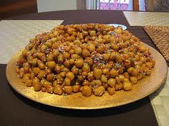 Struffoli plate