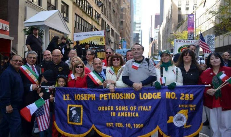 Lt. Joseph Petrosino Lodge marching in the 2013 Columbus Day Parade in New York City.