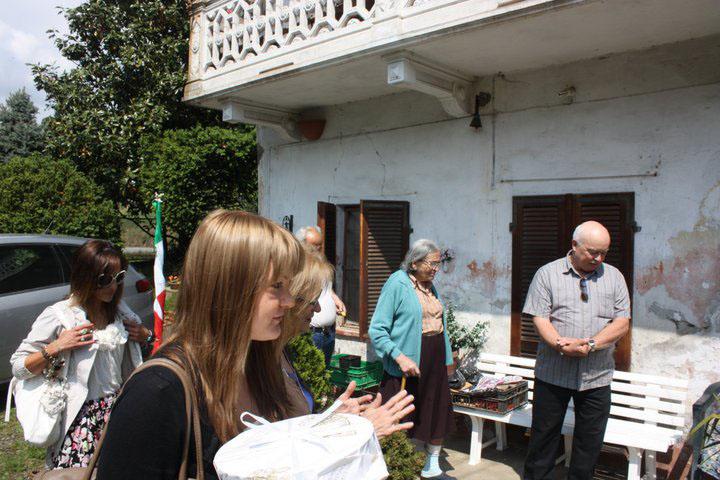 My family in Bollengo, Piedmont, Italy.