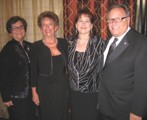 Pictured (L-R): Girolami, Lawrence-Murphy, Fassio Pignati with National President Baratta
