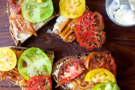 tomato-and-fried-provolone-sandwich smitten kitchen